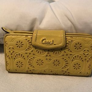 Coach Yellow Wallet